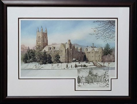 Framed Saint Josephs II remarqued print
