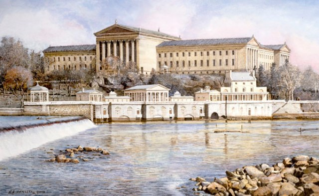 Philadelphia Waterworks by Santoleri