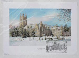 Saint Josephs University II Remarqued Print by Santoleri