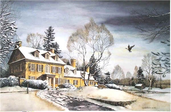 Winter Retreat Santoleri limited Edition Print from Watercolor Painting