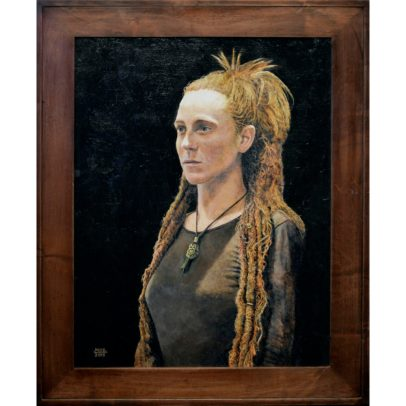 """Dreadlocks"" Acrylic Painting 2015 - Portraits by Santoleri"