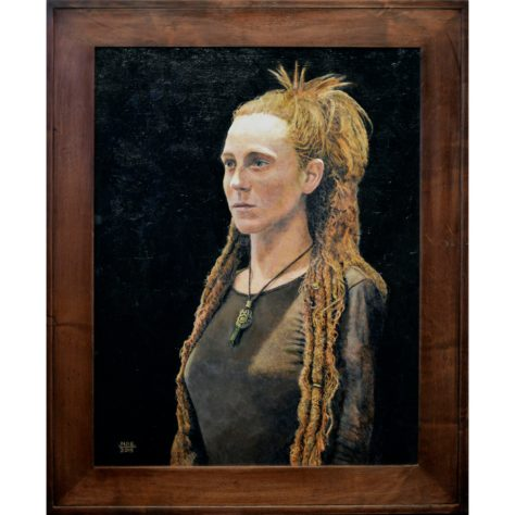 """Dreadlocks"" Acrylic Painting on Panel 2015 by Nicholas Santoleri - Oil and Acrylic Portraits"