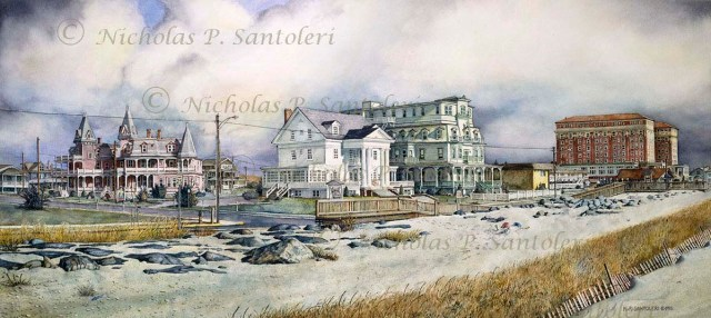 After Labor Day - Cape May Art by Santoleri