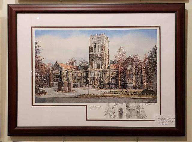 Lehigh Framed Remarqued Print