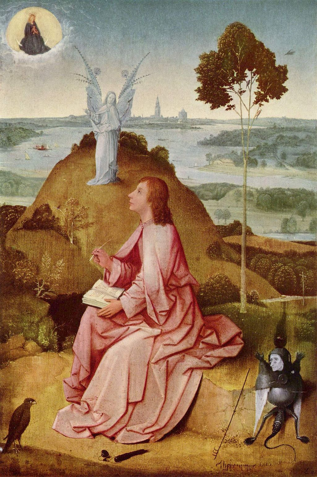 Larry Hunt Bible Commentary // Saint John on Patmos by Hieronymus Bosch