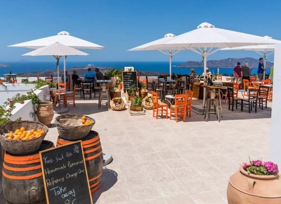 Santorin restaurant terrasse