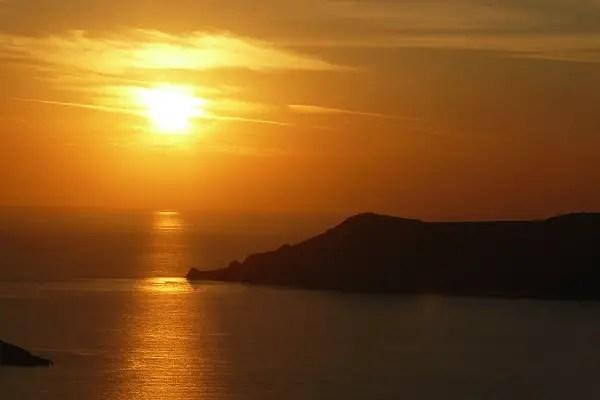 Thirassia Coucher de Soleil