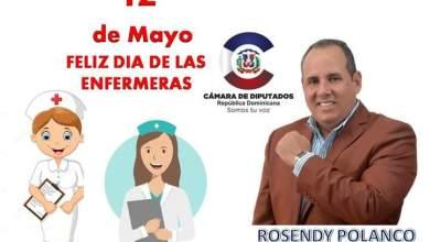 Photo of El Diputado Rosendy Polanco felicita a Las Enfermeras en su día!