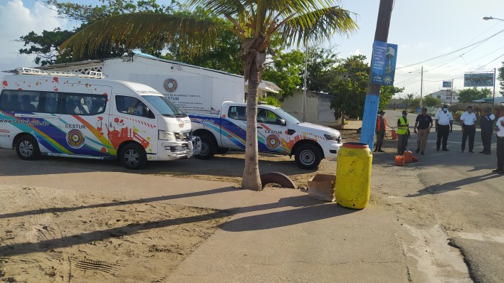 Playa de Montecristi amanece con incremento de vigilancia policíaco militar