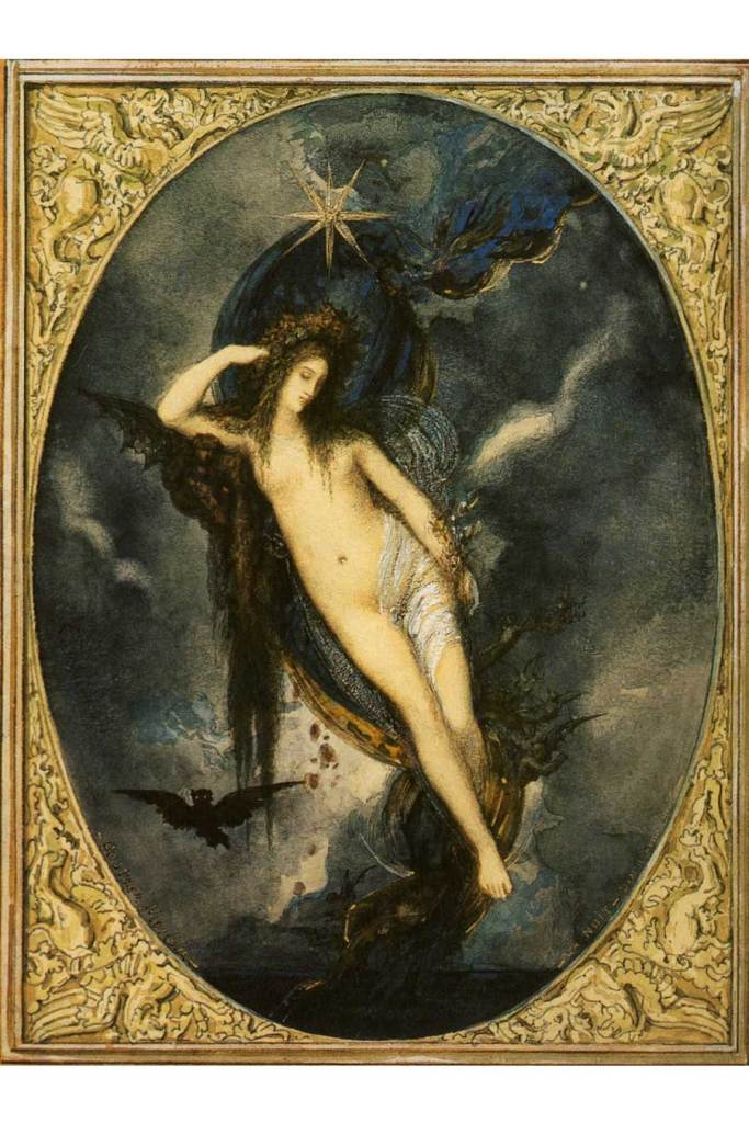 Art - Nyx by Gustave Moreau 1880
