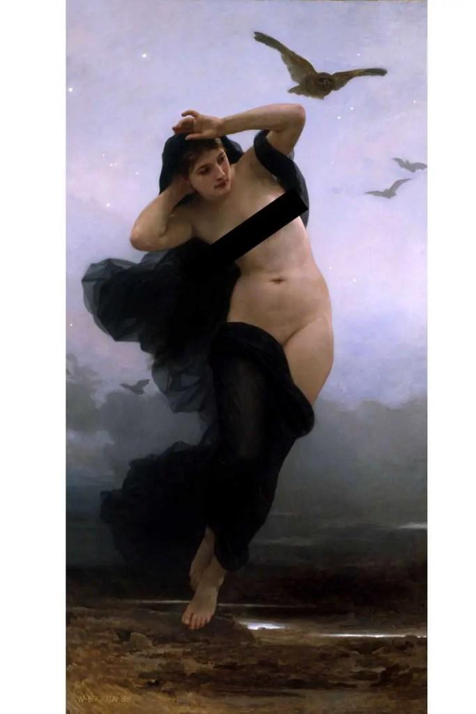 Art - Nyx by William Adolphe Bouguereau 1883 (censored)