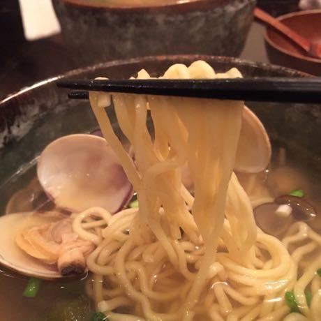 ボンゴレ亭 貝汁そば 太麺