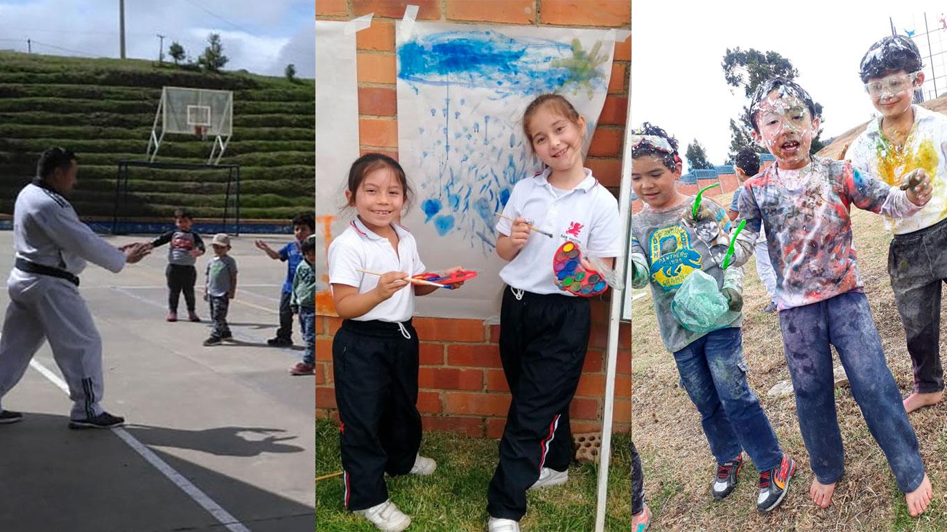Pintura al aire libre, taekwondo, color run y más diversión para terminar el año.