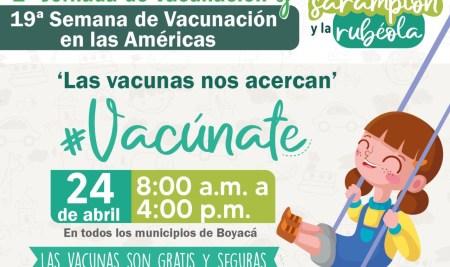 Únete a la campaña de vacunación para la protección de nuestros niños