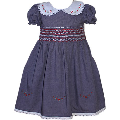 Navy Blue Smock Dress