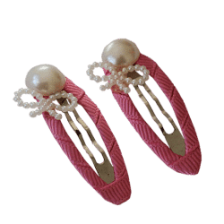 pink hair clips