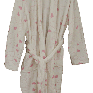 Luxury Dressing Gown  – Pink White