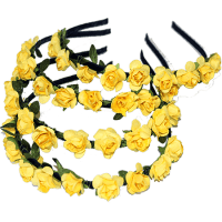 paper flower alice band golden yellow