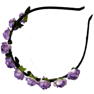 Paper Flower Alice Band  Violet – FREE SHIPPING