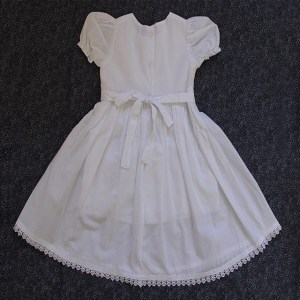 Smocked Dress – White for Christening/Special occasion