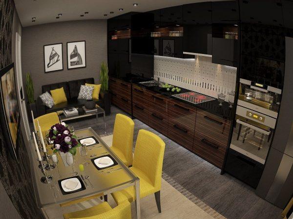 Дизайн кухни 14 кв м с диваном — фото новинки 2017 года ...