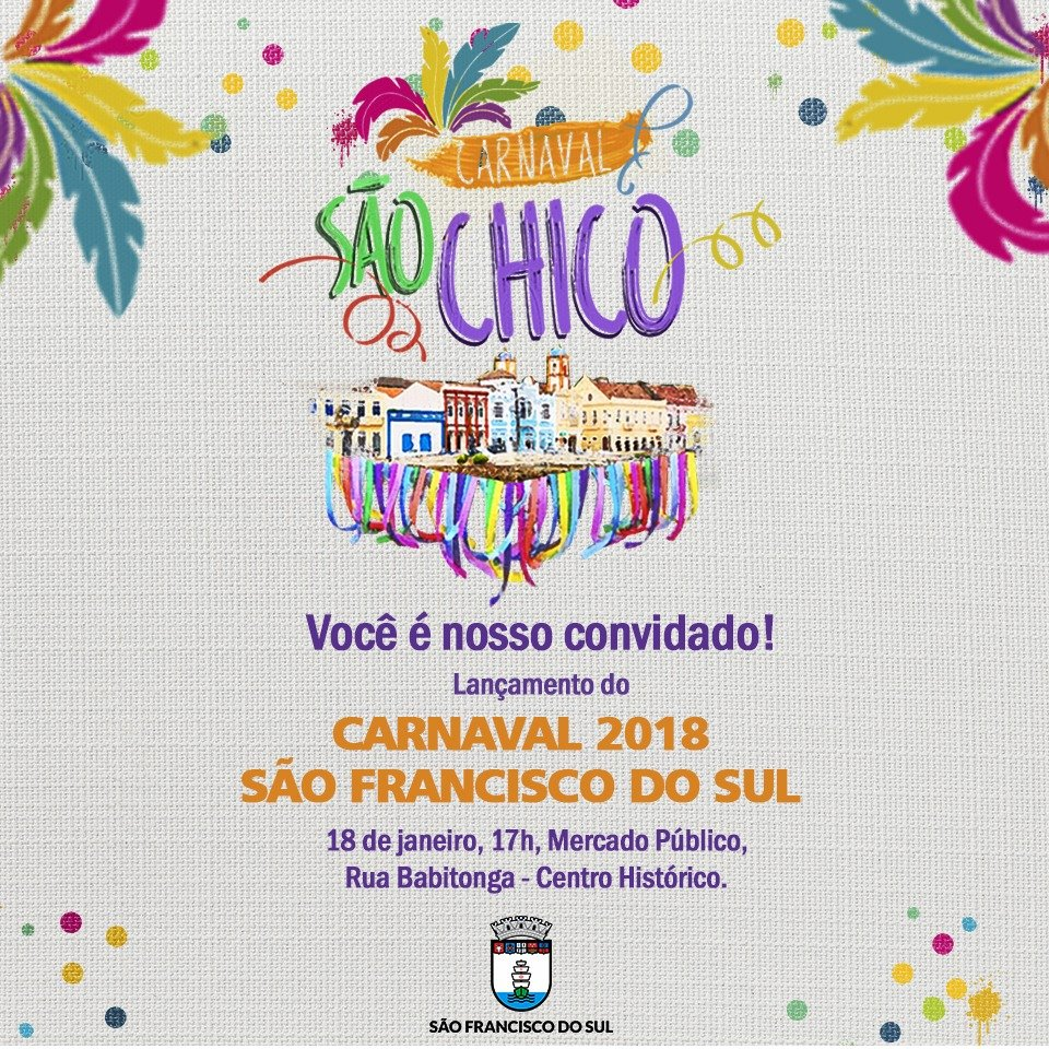 lancamento carnaval 2018 sao francisco do sul