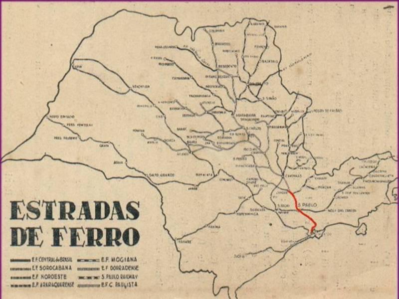 Mapa das Ferrovias de São Paulo