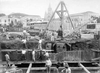 Viaduto Santa Ifigênia em 1910