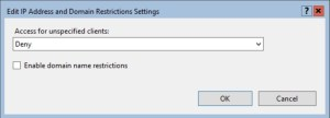 Deny access for unspecified clients