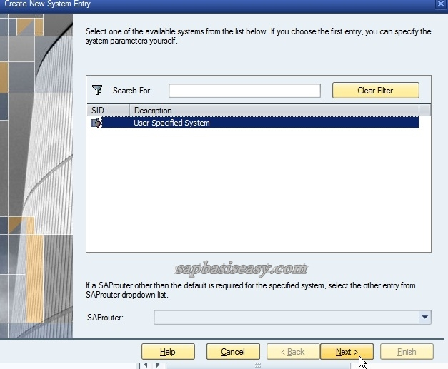 Configure SAP Logon