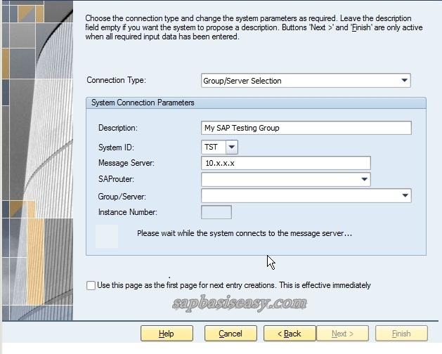 Adding SAP Logon entries