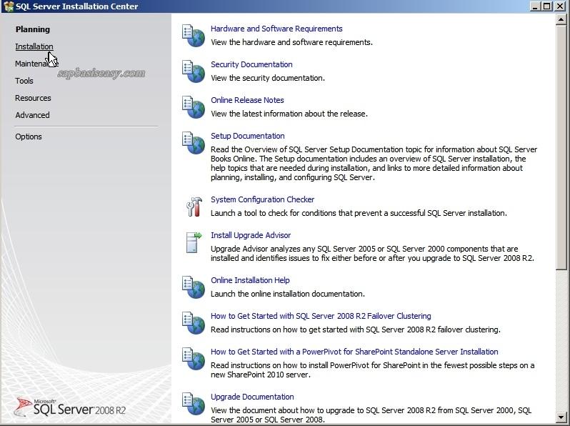 How to install SQL Server 2008 R2 for SAP