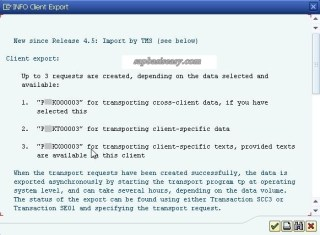Transport request How to export SAP client