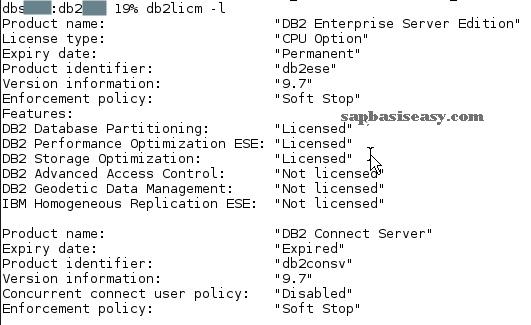 How to install SAP DB2 License - SAP Basis Easy