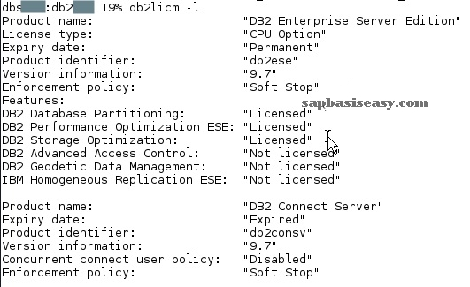 installing SAP DB2 License