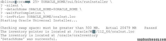 Deinstalling Oracle Software on UNIX - SAP Basis Easy