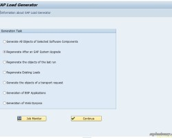 Compiling SAP Programs using SAP Load Generator