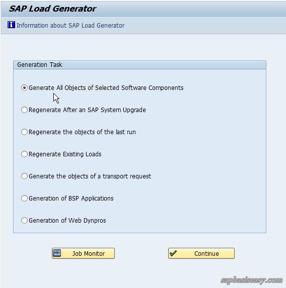 Compiling SAP Programs using SAP Load Generator - SAP Basis Easy