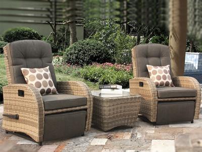 reclining rattan chairs garden