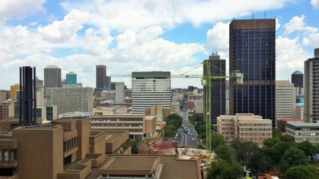 Joburg skyline and new Council Chamber - Heritage Portal - February 2016