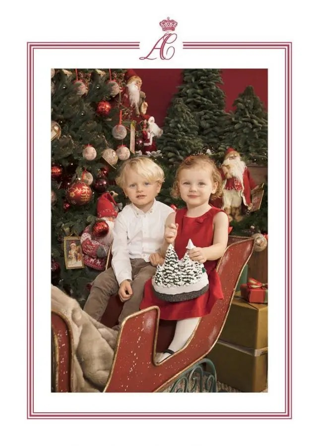 Christmas In Monaco With Princess Charlene And Royal Family With Twins On 2017s Xmas Card