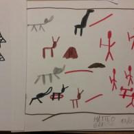 Una pittura rupestre a firma di Matteo