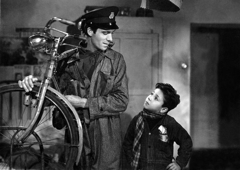 Scena tratta dal Film Ladri di biciclette
