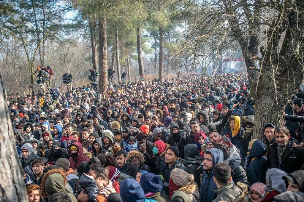 Profugo sul confine turco-greco