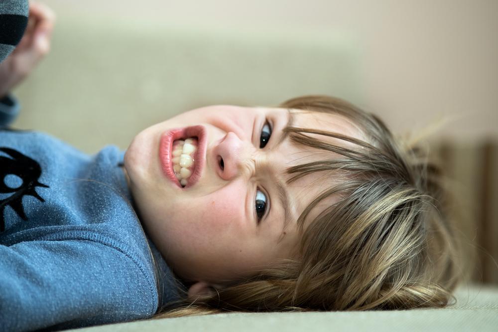 Un bambino arrabbiato