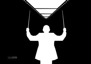 L'illustrazione di Valerio Vacchetta per Ennio Morricone