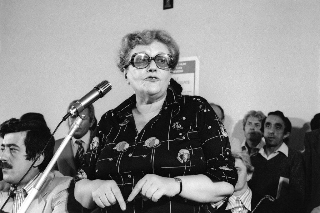 Laura Conti, partigiana, medico, ambientalista, politica e scrittrice, considerata la madre dell'ecologismo italiano (Settembre 1976 (Foto: Dino Fracchia / Alamy Stock Photo)