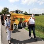 La camminata contro il terricidio è stata organizzata dalla Rete Appenninica Femminista e dalla Brigata Solidarietà Donne da Sasso Marconi ad Altedo, nel Bolognese (Foto: Giuditta Pellegrini)