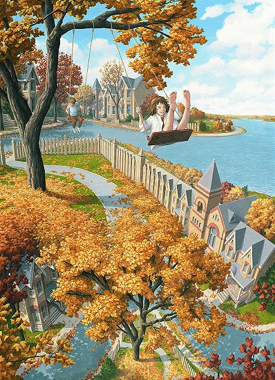 Telas Pinturas de Rob Gonsalves Canvas Images