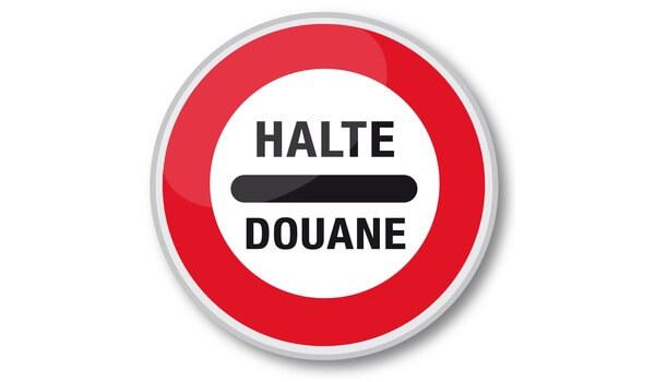 Panneau «Halte douane»
